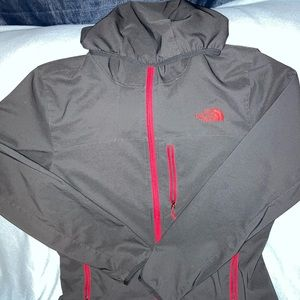North face hooded zip up